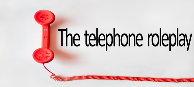 The telephone roleplay graphic