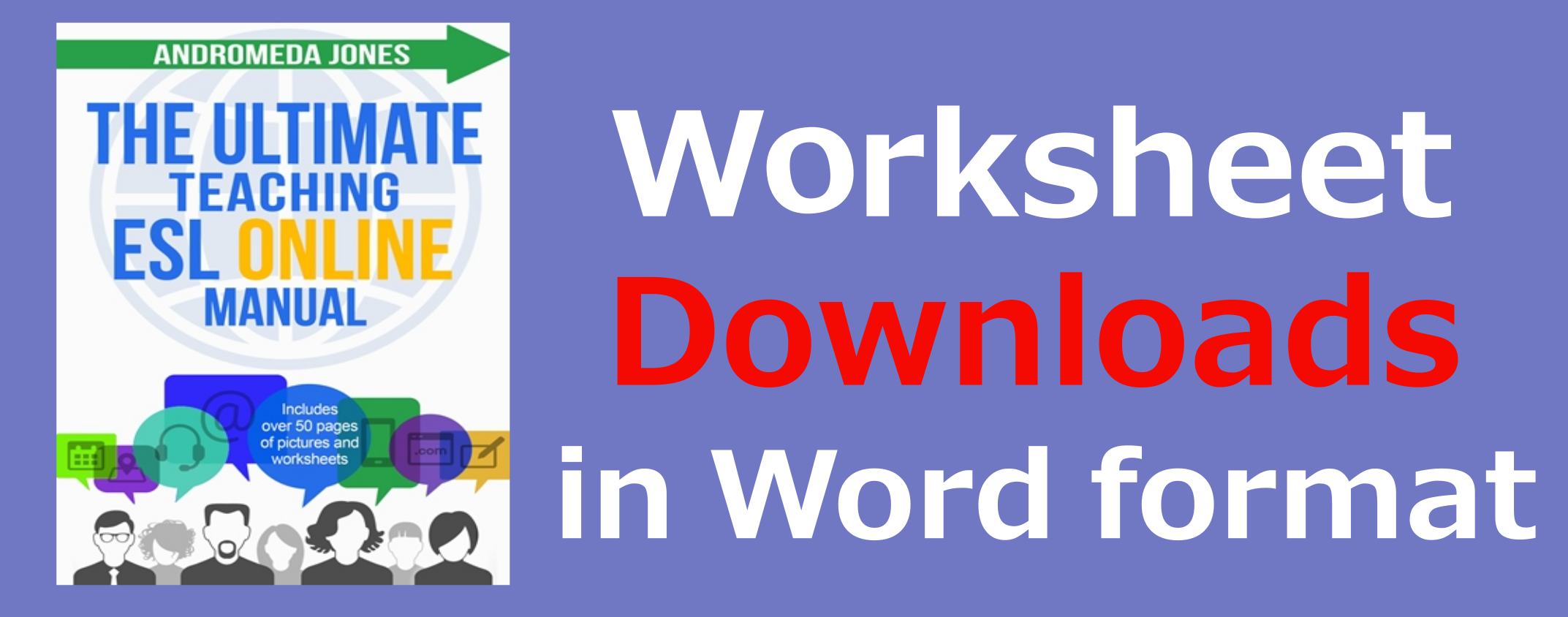 Protected: The Ultimate ESL Online Worksheets in Word format graphic