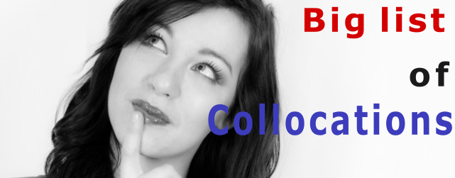 The big list of English collocations graphic